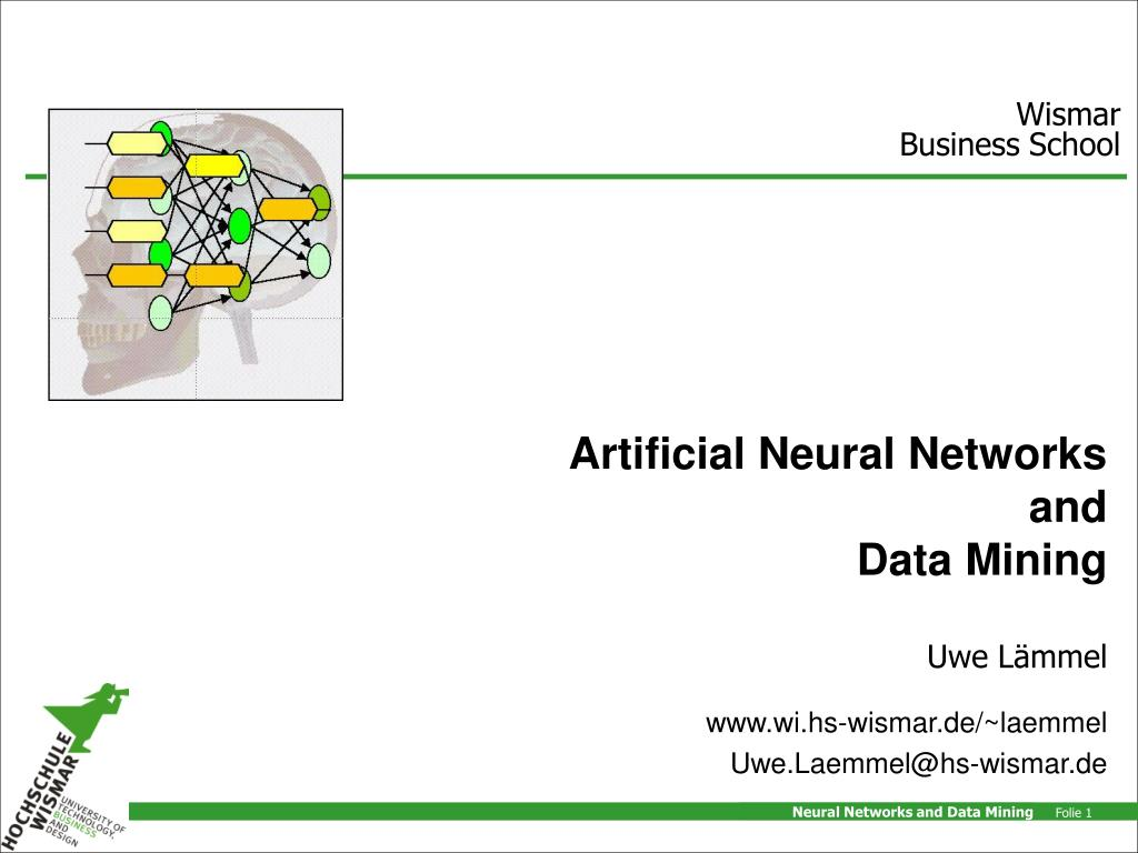 artificial neural networks and data mining l.