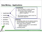 data mining applications