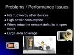 problems performance issues