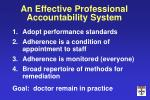 an effective professional accountability system