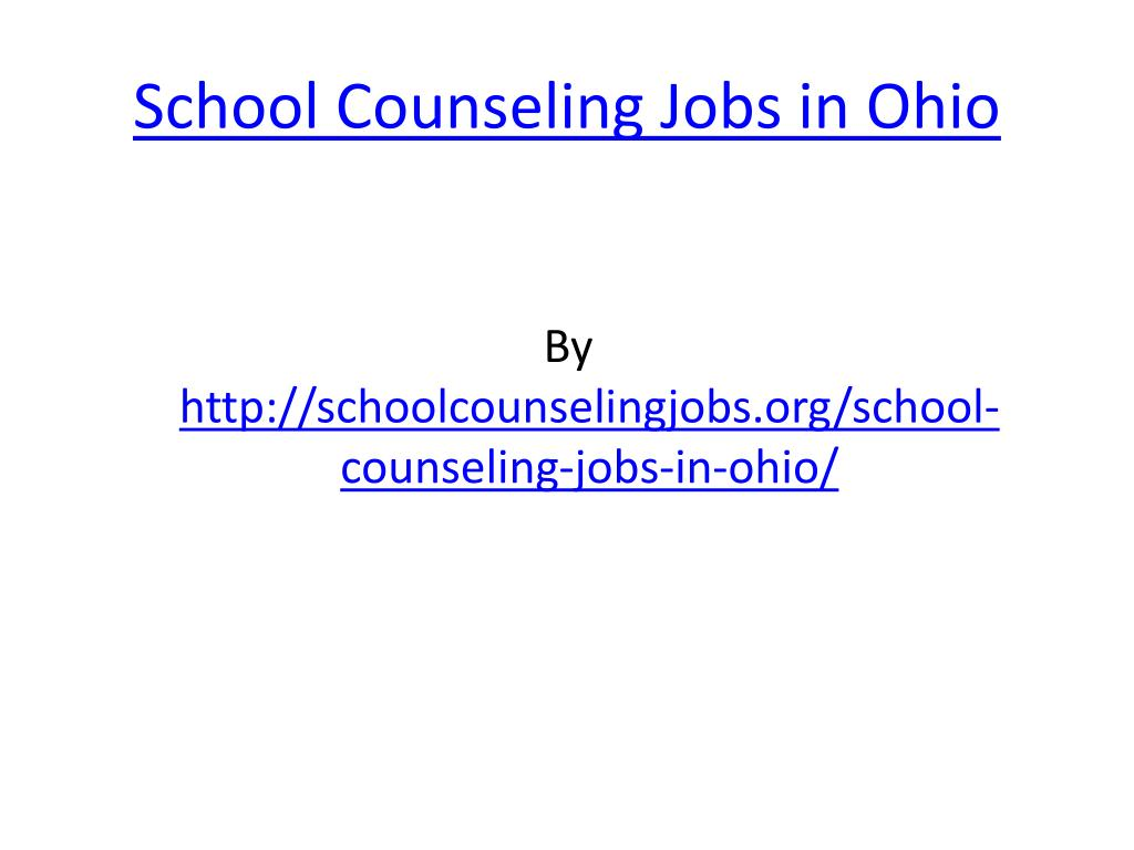 school counseling jobs in ohio l.
