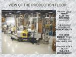 view of the production floor