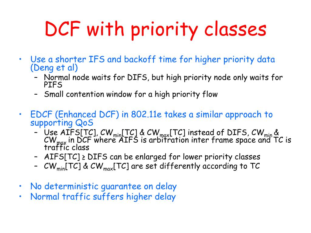 DCF with priority classes