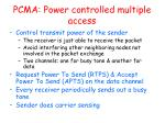pcma power controlled multiple access