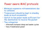 power aware mac protocols
