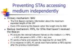 preventing stas accessing medium independently
