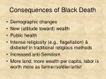 consequences of black death