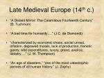 late medieval europe 14 th c