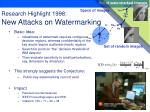 research highlight 1998 new attacks on watermarking