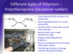 different types of polymers polychloroprene neoprene rubber