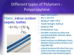 different types of polymers polypropylene