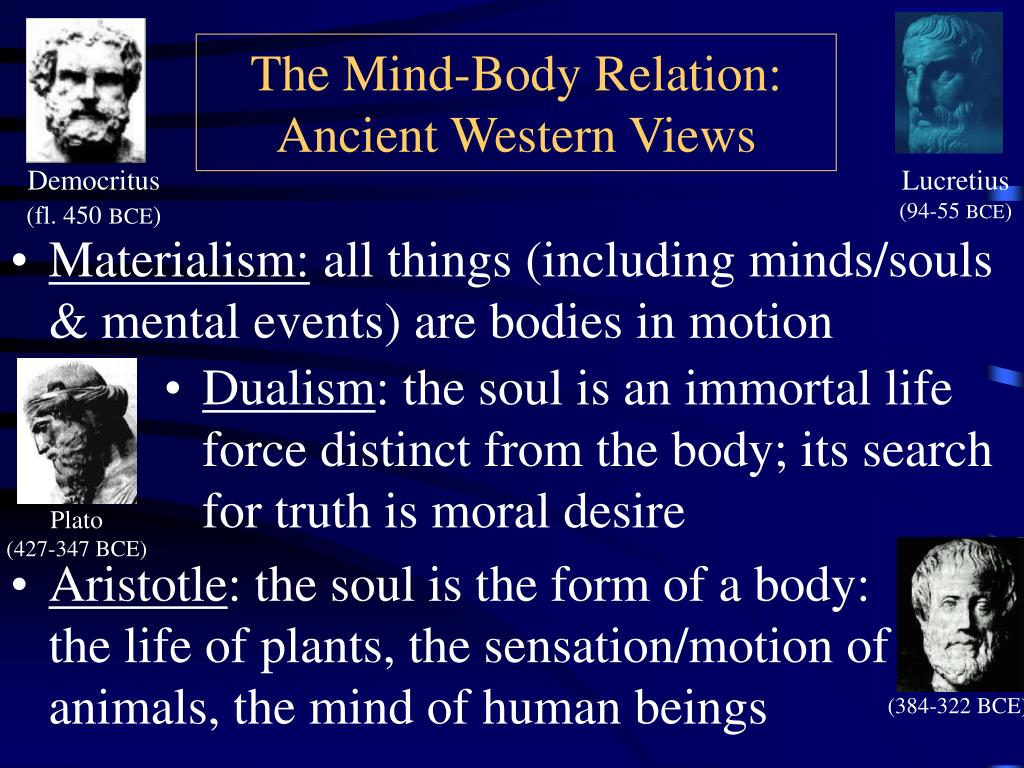 the mind body relation ancient western views l.