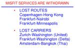 misfit services are withdrawn