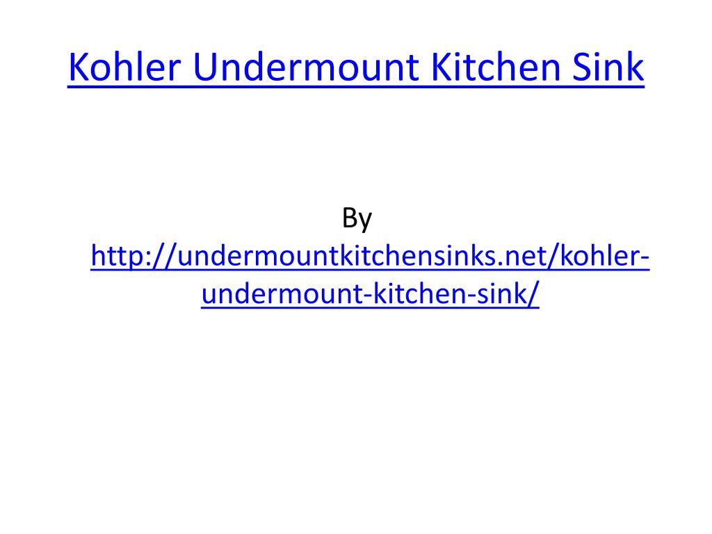 kohler undermount kitchen sink l.