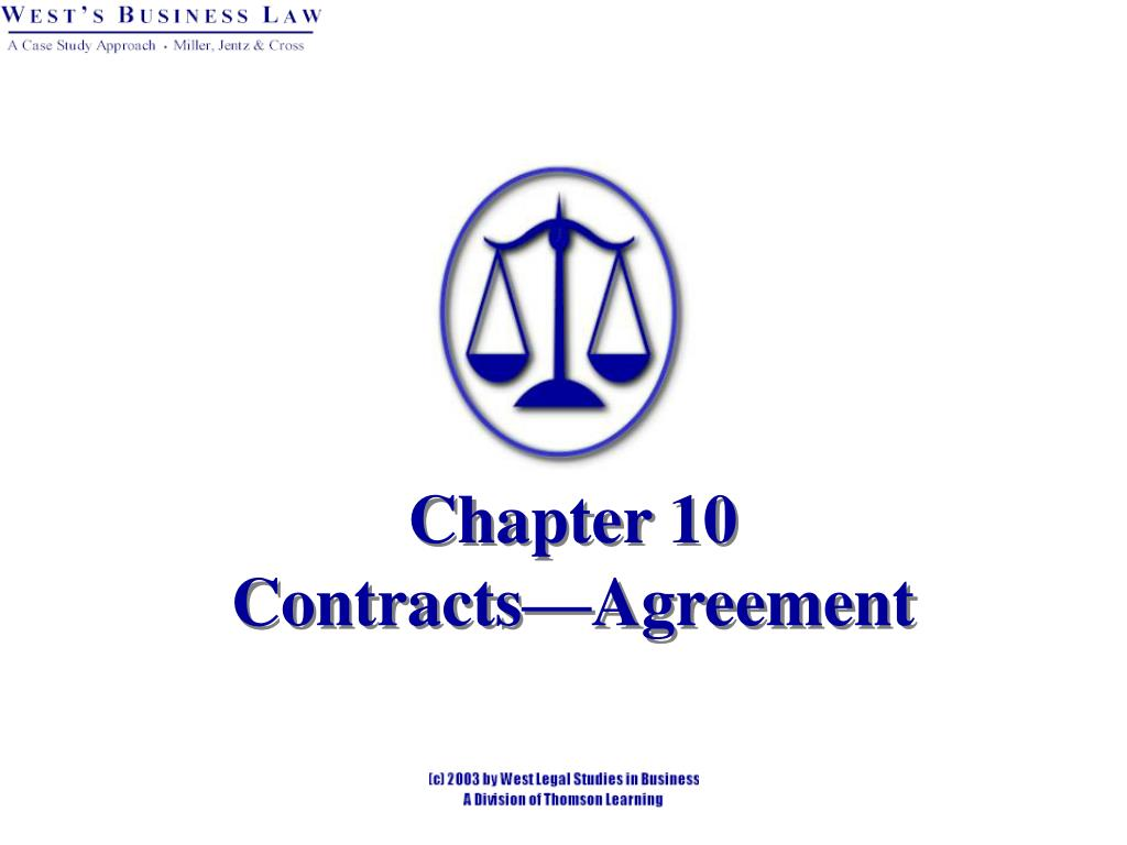 chapter 10 contracts agreement l.