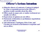 offeror s serious intention
