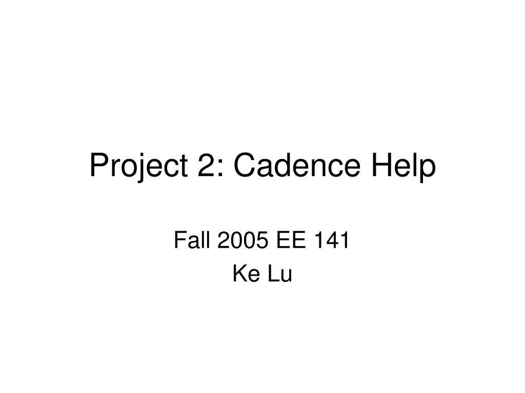 project 2 cadence help l.