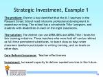 strategic investment example 1