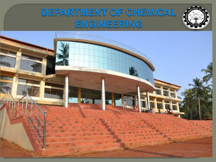 department of chemical engineering n.