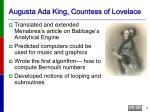 augusta ada king countess of lovelace