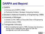 darpa and beyond