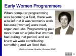 early women programmers