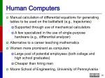 human computers