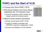parc and the start of vlsi