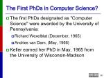 the first phds in computer science