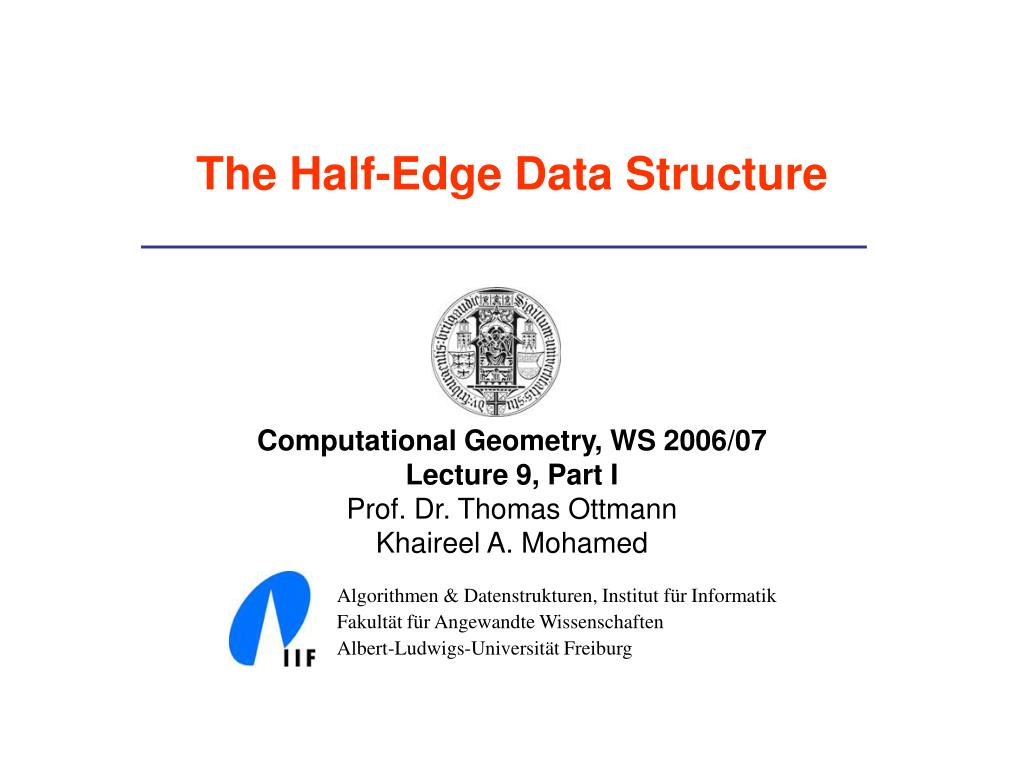 the half edge data structure l.