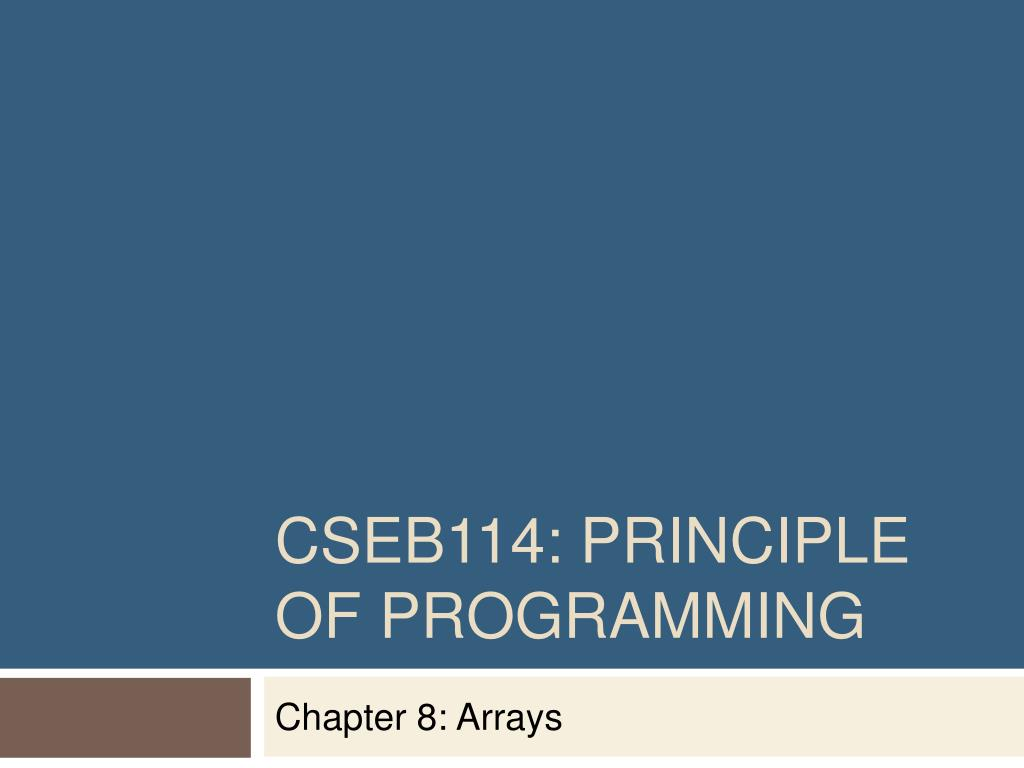 cseb114 principle of programming l.