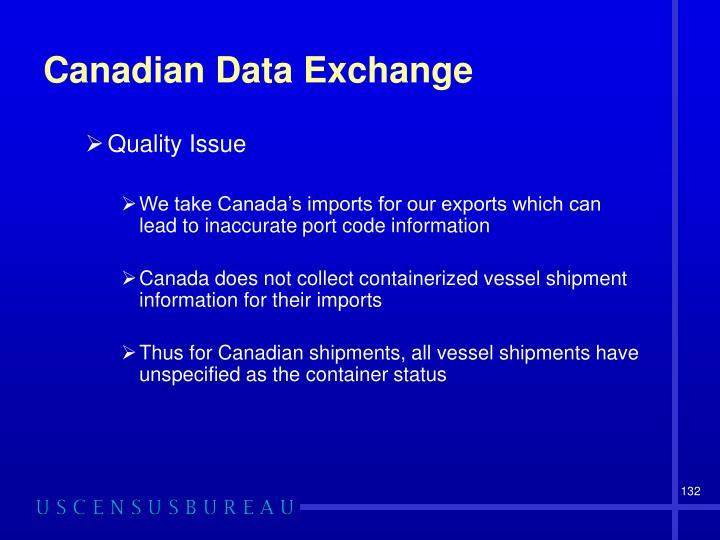 Canadian Data Exchange