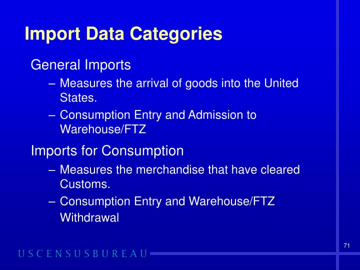 Import Data Categories