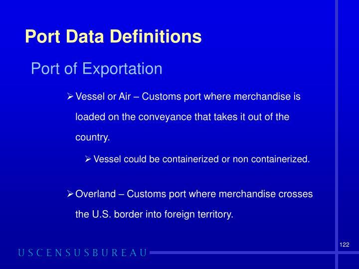 Port Data Definitions