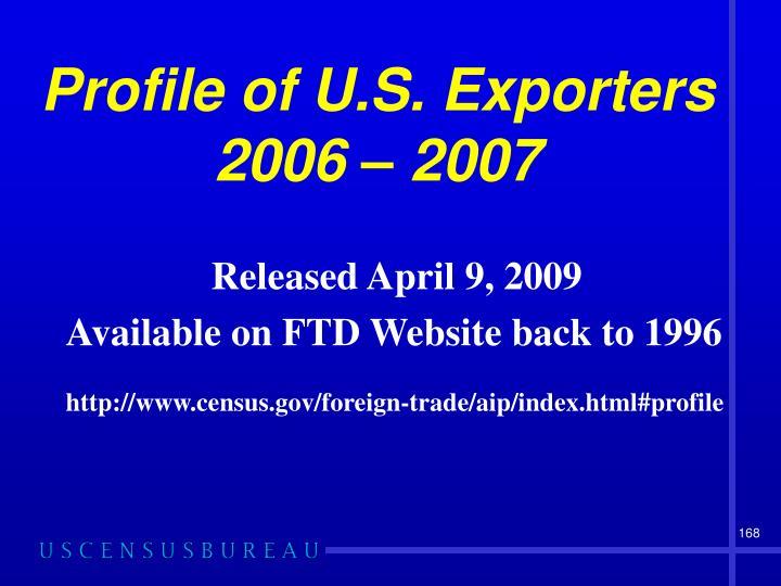 Profile of U.S. Exporters