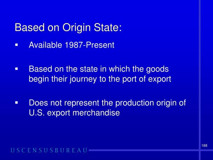 Based on Origin State: