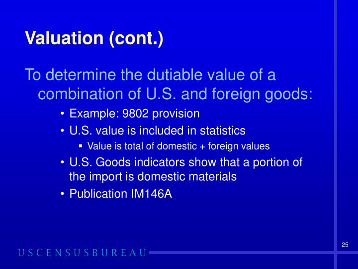 Valuation (cont.)