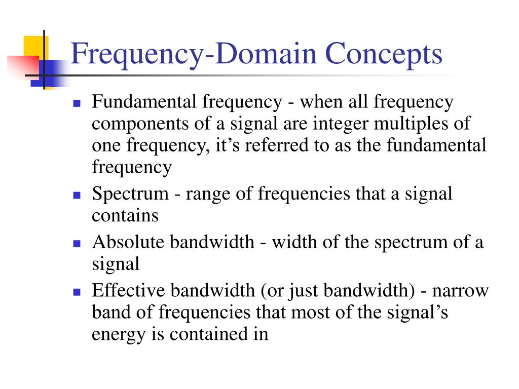 Frequency-Domain Concepts