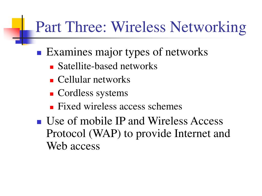 Part Three: Wireless Networking