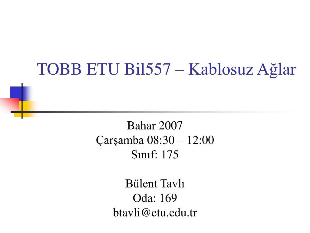 TOBB ETU Bil557 –