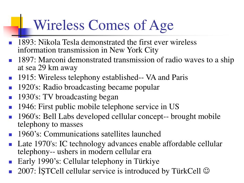 Wireless Comes of Age