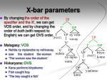x bar parameters4