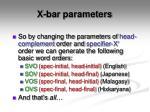 x bar parameters5