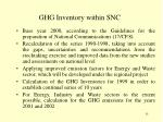 ghg inventory within snc
