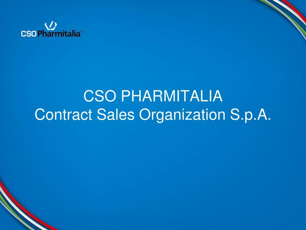 cso pharmitalia contract sales organization s p a l.