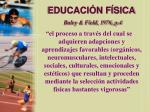 educaci n f sica baley field 1976 p 4