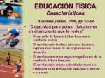 educaci n f sica caracter sticas cecchini y otros 1996 pp 51 5915