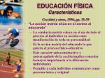 educaci n f sica caracter sticas cecchini y otros 1996 pp 51 5916