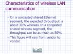 characteristics of wireless lan communication41
