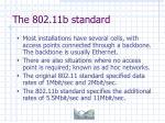 the 802 11b standard8